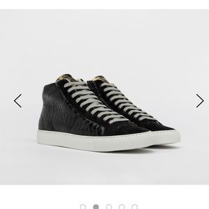 Black and Gold P448 Hightops